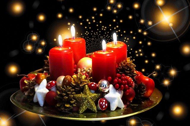 kaarsen licht kerst december feest