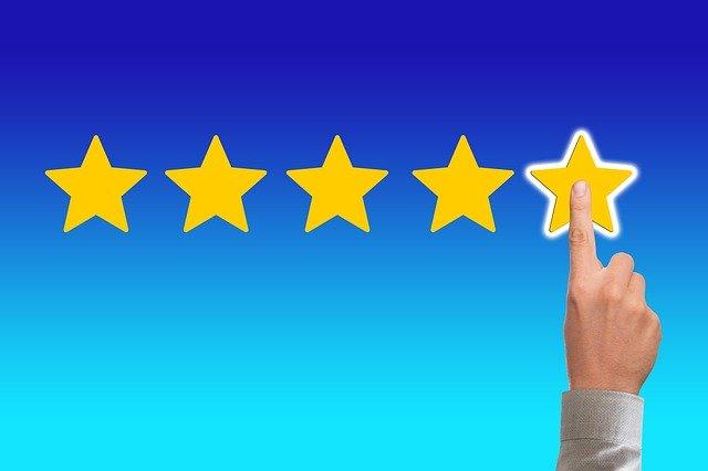 review positief tevreden sterren